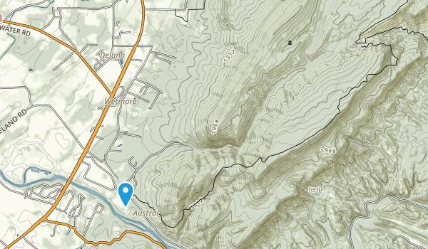 Gee Creek Wilderness Map