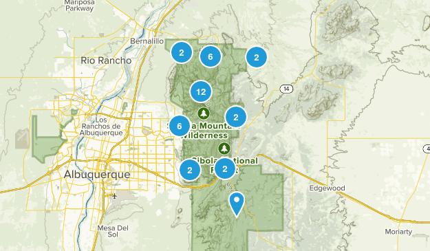 Sandia Mountain Wilderness Map