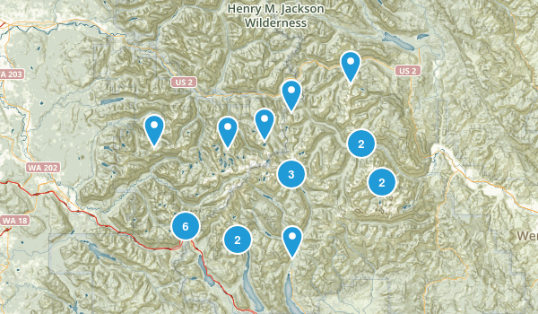 Alpine Lakes Wilderness Map