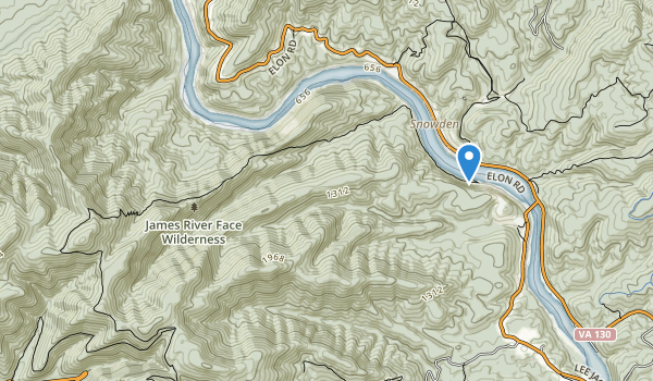 James River Face Wilderness Map