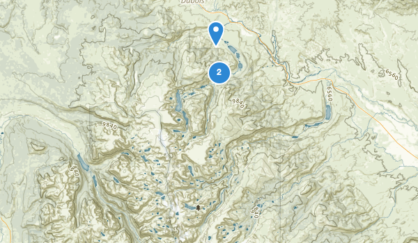 trail locations for Fitzpatrick Wilderness