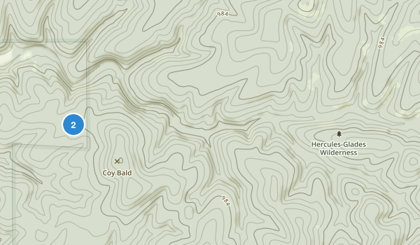 Hercules-Glades Wilderness Map