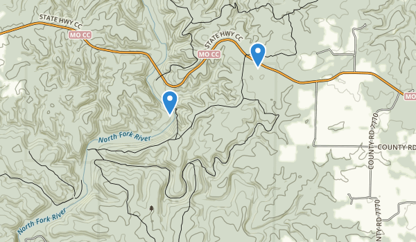 Devils Backbone Wilderness Map