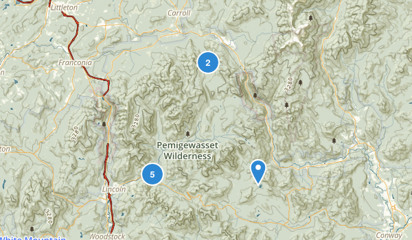 Pemigewassett Wilderness Map