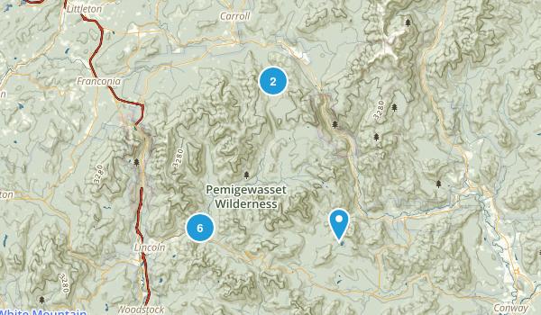Pemigewassett Wilderness Map