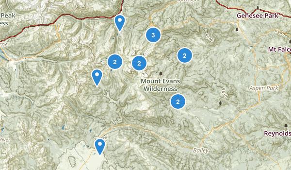 Mount Evans Wilderness Map