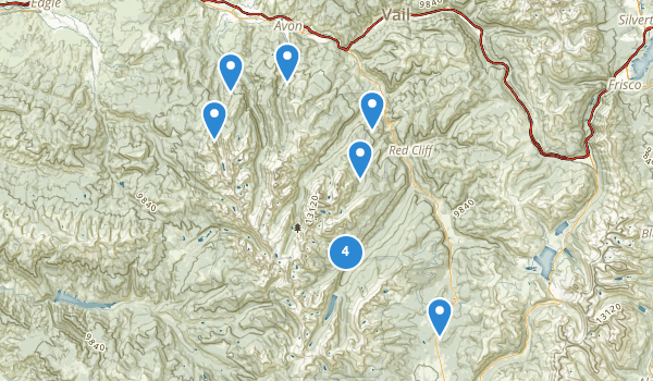 trail locations for Holy Cross Wilderness