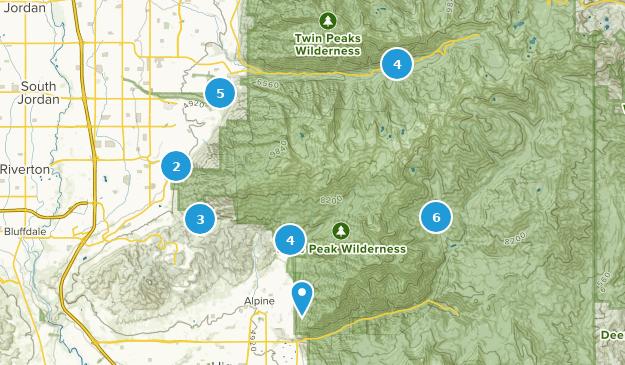 Lone Peak Wilderness Map