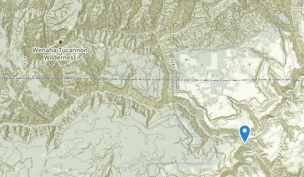Wenaha-Tucannon Wilderness Map