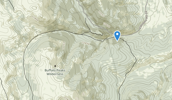 Buffalo Peaks Wilderness Map