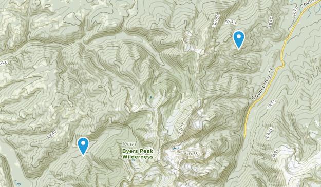 Byers Peak Wilderness Map
