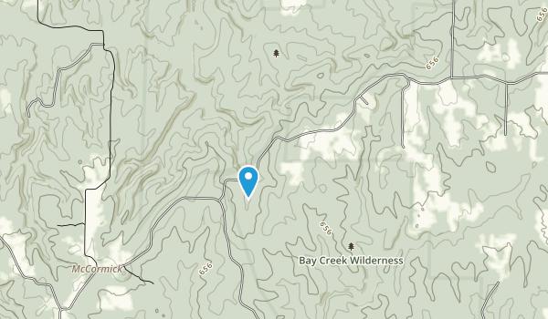 Burden Falls Wilderness Map