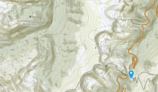 Vasquez Peak Wilderness Map