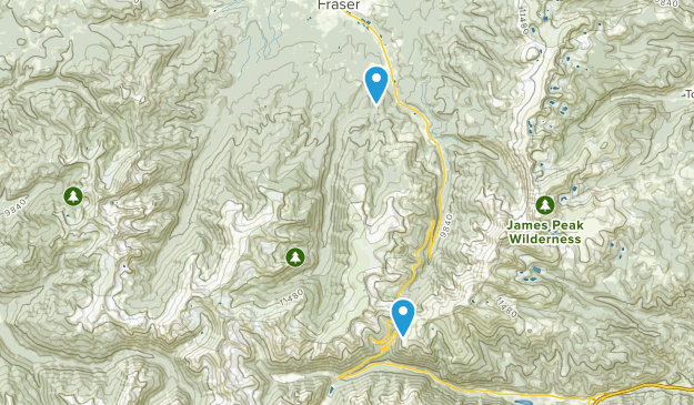 Vasquez Peak Wilderness Map