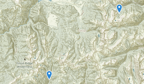 Fossil Ridge Wilderness Map