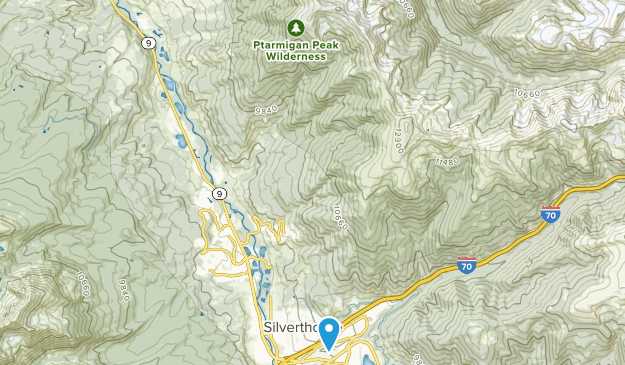 Ptarmigan Peak Wilderness Map