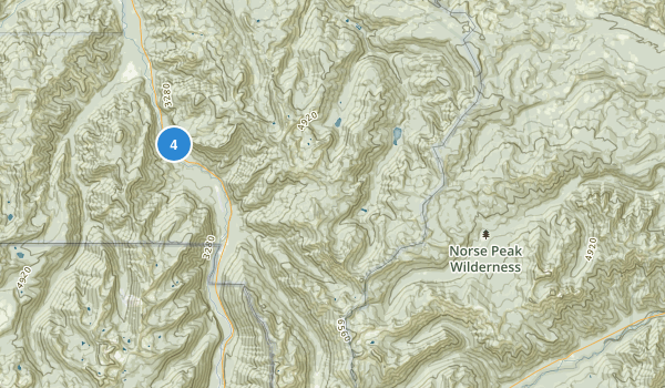 Norse Peak Wilderness Map