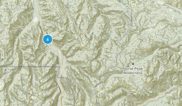 Norse Peak Wilderness Map
