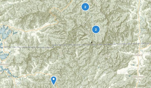 Southern Nantahala Wilderness Map