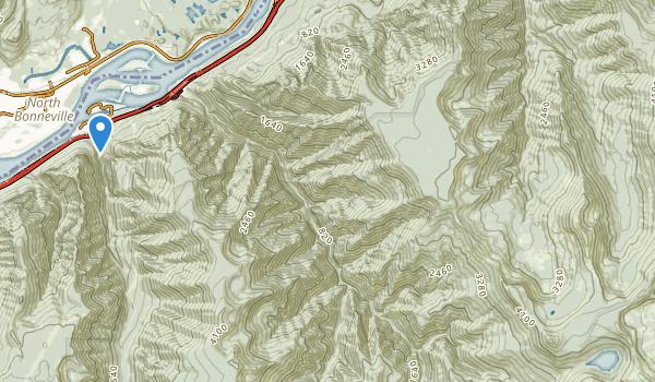 trail locations for Mark O. Hatfield Wilderness
