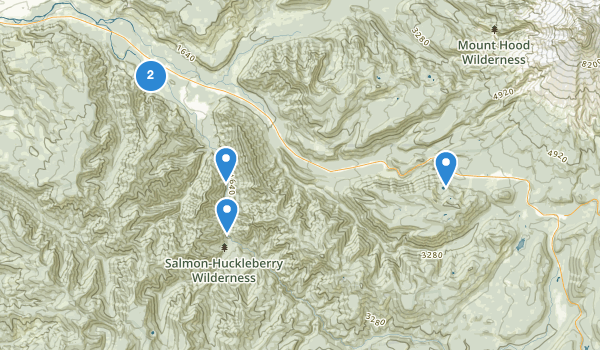 trail locations for Salmon-Huckleberry Wilderness