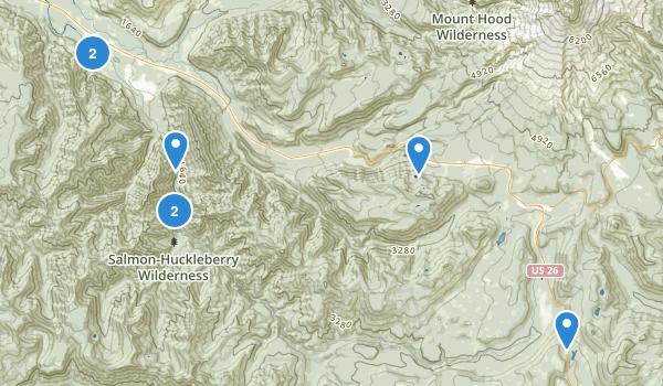 Salmon-Huckleberry Wilderness Map