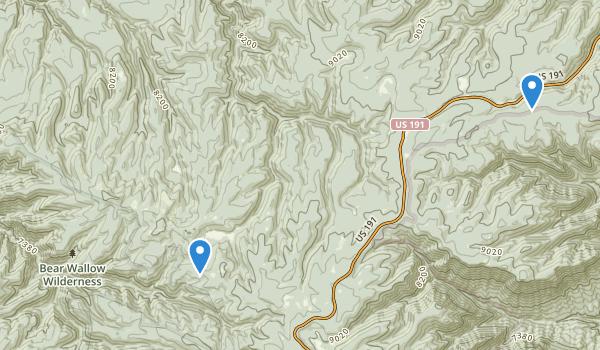 Bear Wallow Wilderness Map
