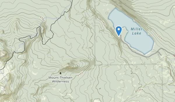 Mount Thielsen Wilderness Map