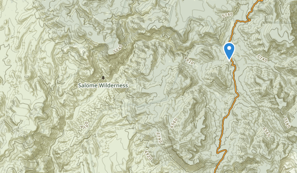 trail locations for Salome Wilderness