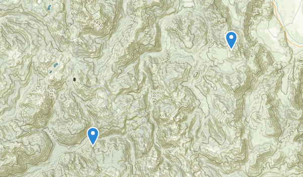 trail locations for Carson-Iceberg Wilderness