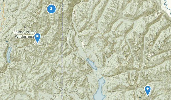 trail locations for Salmo-Priest Wilderness