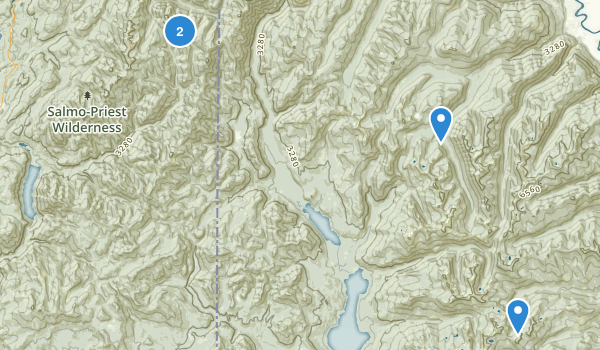 Salmo-Priest Wilderness Map