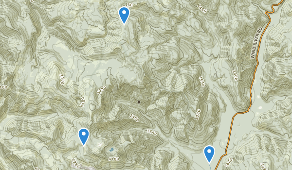 trail locations for Trapper Creek Wilderness