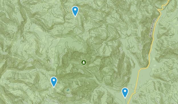 Trapper Creek Wilderness Map
