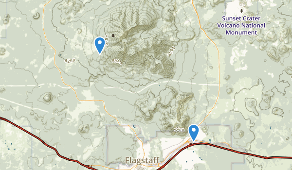 Kachina Peaks Wilderness Map