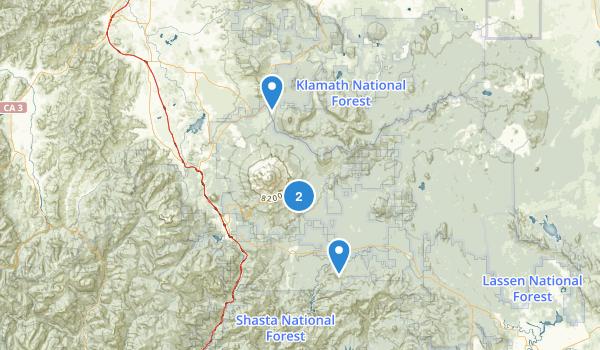 Mt. Shasta Wilderness Map