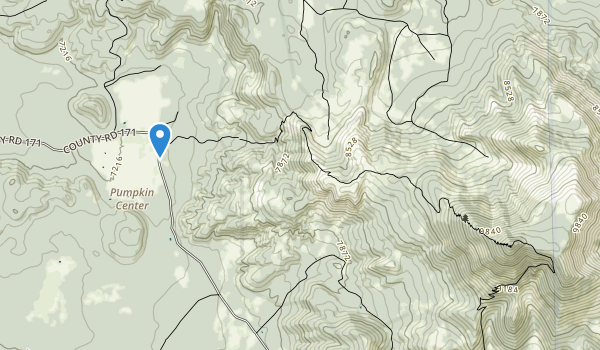 trail locations for Kendrick Mountain Wilderness