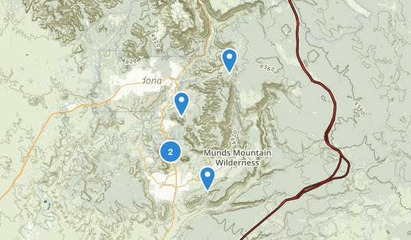 Munds Mountain Wilderness Map