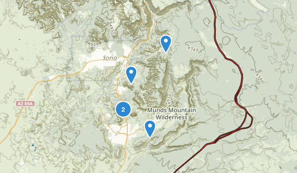 Munds Mountain Wilderness Map