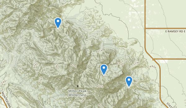 Miller Peak Wilderness Map