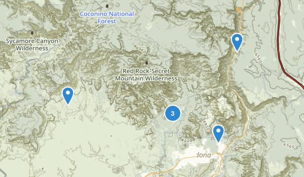 Red Rock-Secret Mountain Wilderness Map
