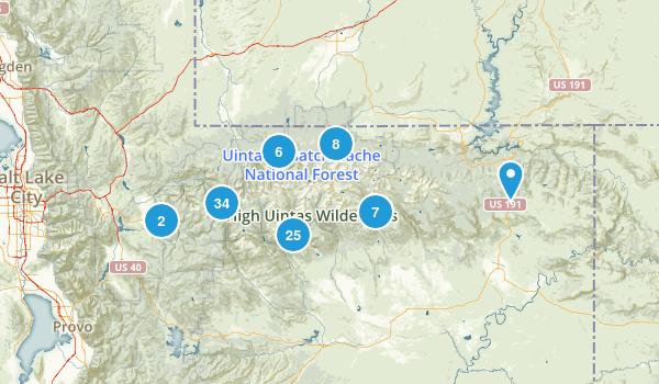 High Uintas Wilderness Map