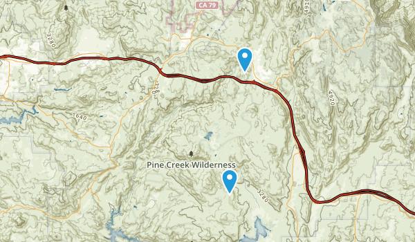 Pine Creek Wilderness Map