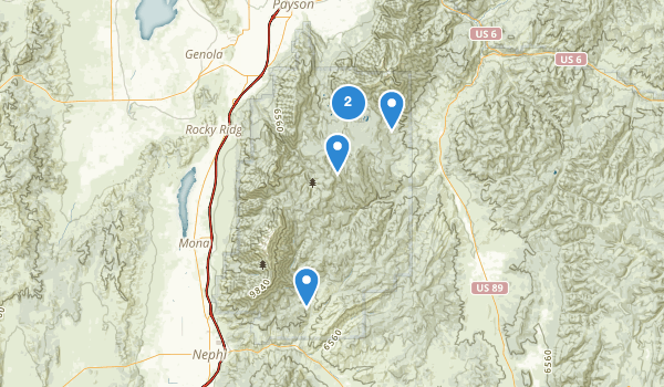 trail locations for Mount Nebo Wilderness