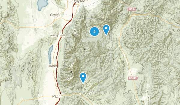 Mount Nebo Wilderness Map