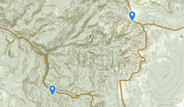 trail locations for Ashdown Gorge Wilderness
