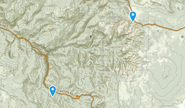 Ashdown Gorge Wilderness Map
