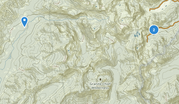 Granite Chief Wilderness Map