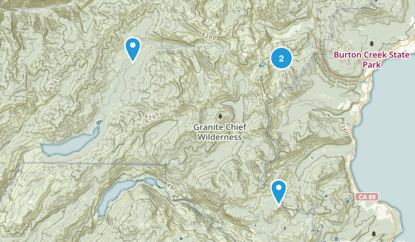 Granite Chief Wilderness Map