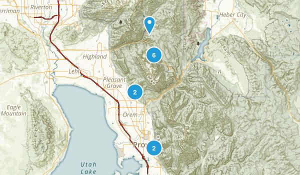 Mount Timpanogos Wilderness Map
